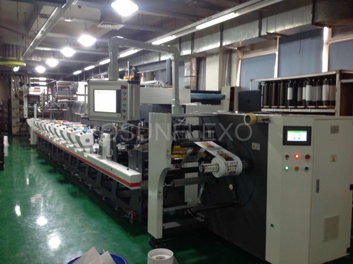 10 Colors Inline flexo label and film printing machine just installed in Shanghai-Osum is the professional manufacturers of Printing and packaging machinery in China.